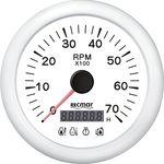 Tahometru 0/7000 rpm cu 4 martori RECMAR