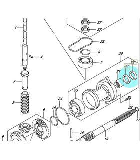 Simering tambur Suzuki / Johnson 40 - 65 CP